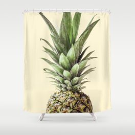 Pineapple Fruit Photography | Summer Happy Tropical Vibes | Art Shower Curtain