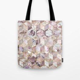 Blush Quartz Honeycomb Tote Bag