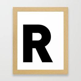 LETTER DESIGN • R • minimalist Framed Art Print