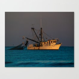 Tucker J fishing boat Canvas Print