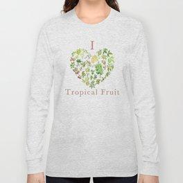 Tropical Fruit Love Heart Long Sleeve T-shirt
