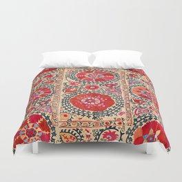 Samarkand Suzani Southwest Uzbekistan Embroidery Duvet Cover
