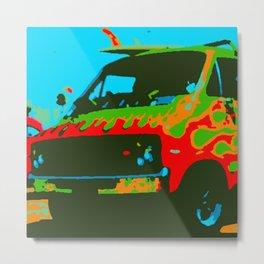 Surf Wagon Metal Print