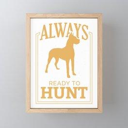 Always ready to hunt Framed Mini Art Print