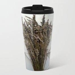 Dried lavender on the fence Travel Mug