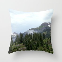 Road to Black Bear Pass, elevation 12,840 feet Throw Pillow