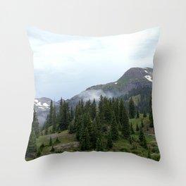 Road to Black Bear Pass, elevation 12,840 feet Throw Pillow