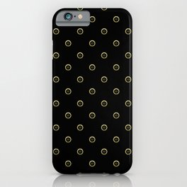 """""""Earth"""" Chinese Calligraphy on Golden Coins iPhone Case"""