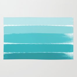 Sapote - painted abstract brushstrokes ombre blue colorful bright coastal decor dorm college Rug