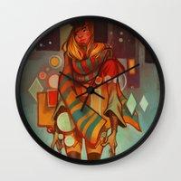 loish Wall Clocks featuring Frozen Lemons by loish