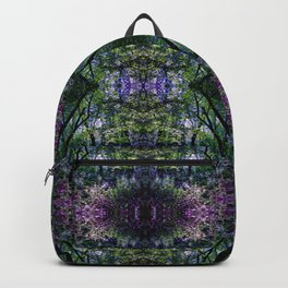 Pleasure of the Pathless Woods collage Backpack