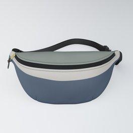 Blue Grey Green Minimalist Fanny Pack