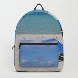 Deck Chairs on Beach Backpack