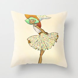 Daltonica - The Color Blind Witch Throw Pillow