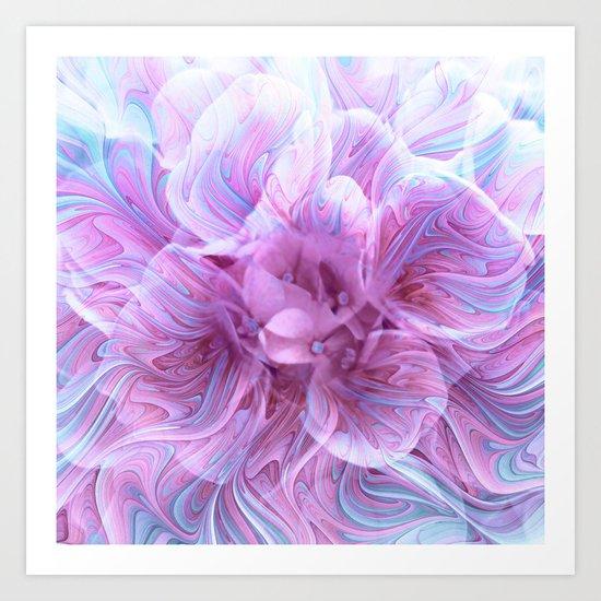 Fractal Flower 3 Art Print