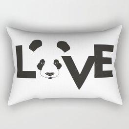 LOVE PANDA BLACK Rectangular Pillow