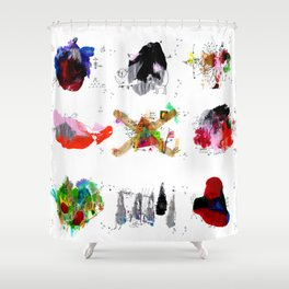 9 abstract rituals Shower Curtain