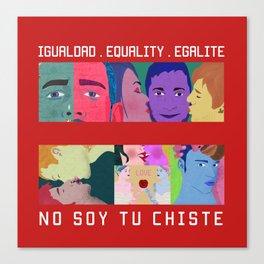Igualdad . Equality . Égalité Canvas Print