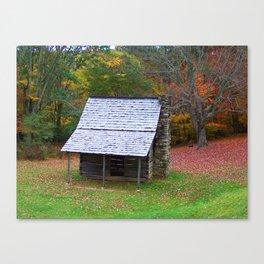 Autumn Blue Ridge Cabin Canvas Print