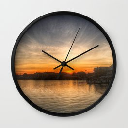 Sunset Over Bay II Wall Clock