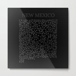 New Mexico LineCity B Metal Print
