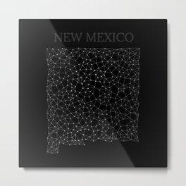 New Mexico LineCity B Metal Print