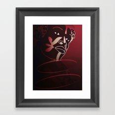 Ebony Red Framed Art Print