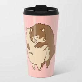 Pomeranian Hugs Travel Mug