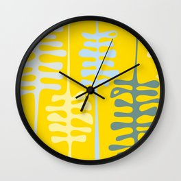 Abstract jungle - yellow Wall Clock