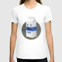milk T-shirts featuring Soy Milk by mrbiscuit
