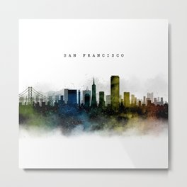 San Francisco Watercolor Skyline Metal Print