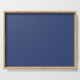 PPG Glidden Daring Indigo (Royal Deep Blue) PPG1166-7 Solid Color Serving Tray