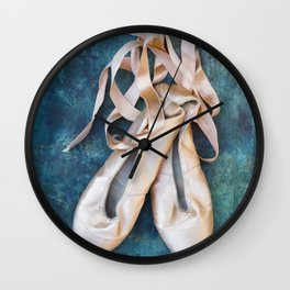 A Pair Of Pointe Shoes Wall Clock