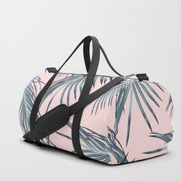 Blush Palm Leaves Dream #1 #tropical #decor #art #society6 Duffle Bag