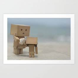 A couple of Danbos on the beach, selected focus Art Print