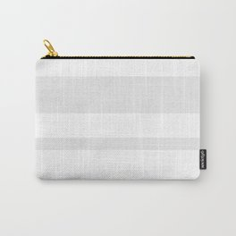 Mixed Horizontal Stripes - White and Pale Gray Carry-All Pouch