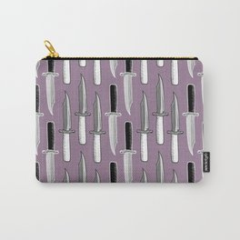 Double Knives in Mauve Carry-All Pouch