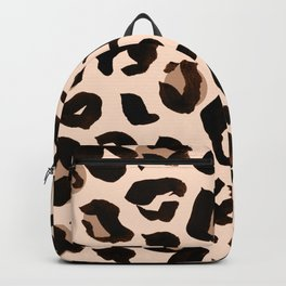 Light Tan Leopard Print Backpack