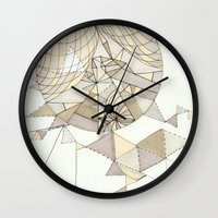 clear Wall Clocks featuring crystal clear by Chanda Stallman