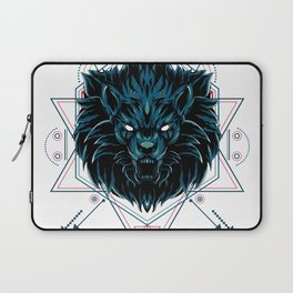 The Wild Lion sacred geometry Laptop Sleeve