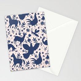 Otomi ink on blush Stationery Cards