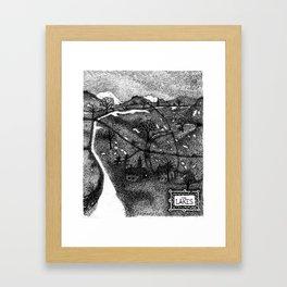 Winter in Lakeland Framed Art Print