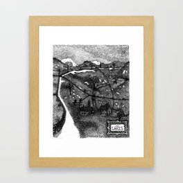Winter in Lakeland Framed Art Print