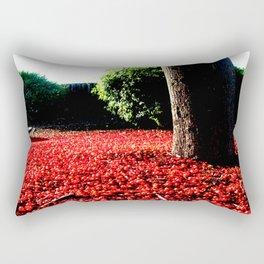 Cherry coloured Leaves Rectangular Pillow