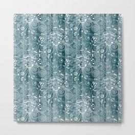 Zenny Stripe, Blue Spruce Metal Print