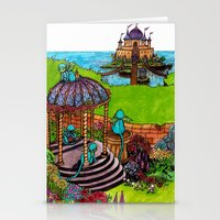 monkey island Stationery Cards featuring Monkey Island by Charlie L'amour