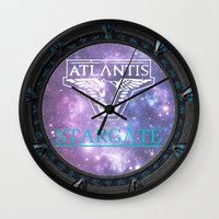 stargate Wall Clocks featuring Pegasus gate by Samy