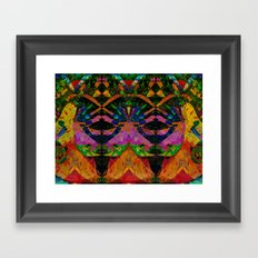 Liquid Nights Abstract Painting Manipulation Framed Art Print