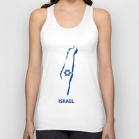 israel Tank Tops featuring israel by mark ashkenazi