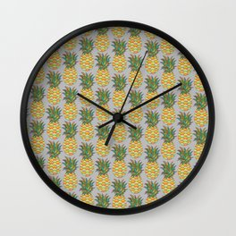 Colourful Pineapples Wall Clock